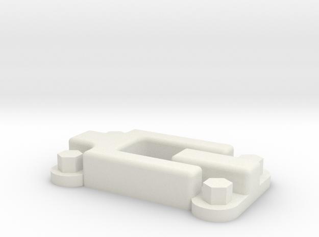 Rear door hinge for Defender body in White Natural Versatile Plastic