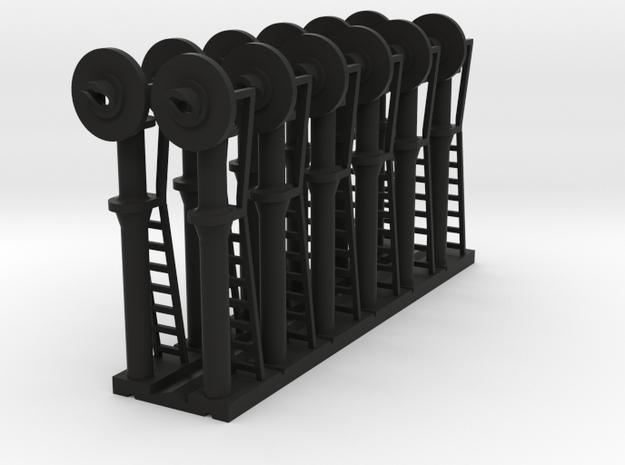 Signal Searchlight (x12) - N 160:1 Scale in Black Natural Versatile Plastic