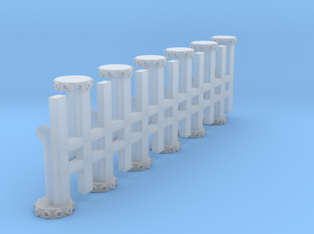 1/64 Air Seeder distribution towers  in Smooth Fine Detail Plastic