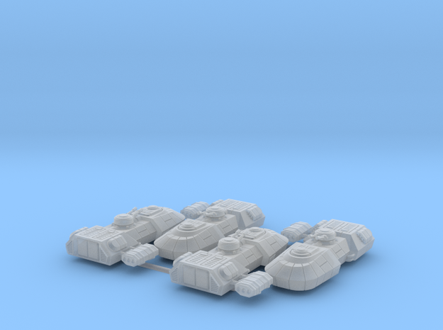 1/270 Rebel T1-B Tanks (4) in Smooth Fine Detail Plastic
