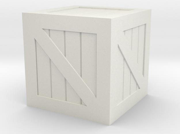 Crate 28mm Scale in White Natural Versatile Plastic