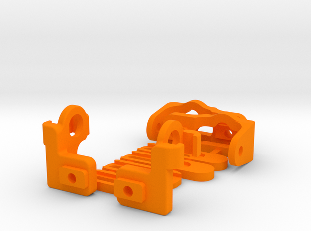 Xray T4 body support awesomatix style FOAM EDITION in Orange Processed Versatile Plastic