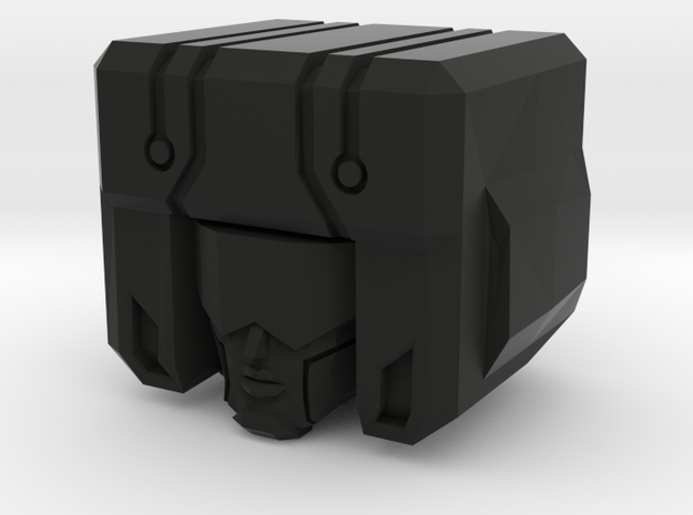 Garnetron Bot Head (Single Part) in Black Natural Versatile Plastic