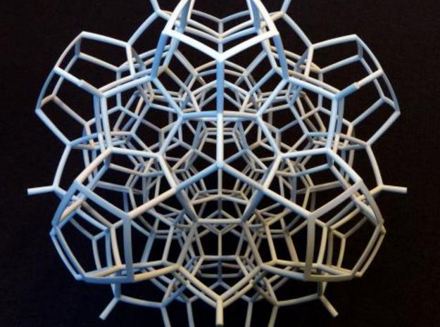 Half of a 120-cell (Large) 3d printed 3 fold symmetry axis.