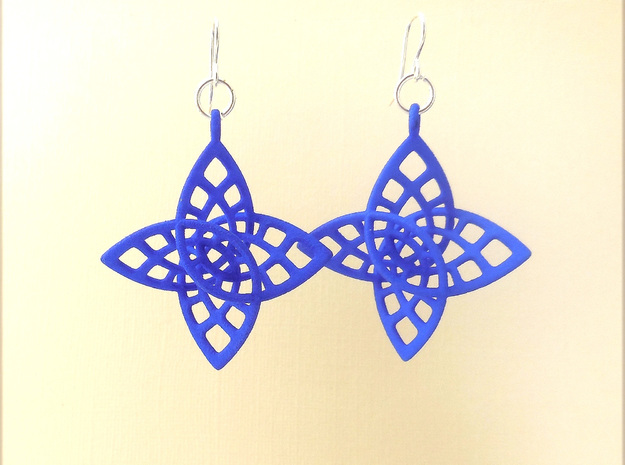 Enneper - Earrings in Plastic in Blue Processed Versatile Plastic