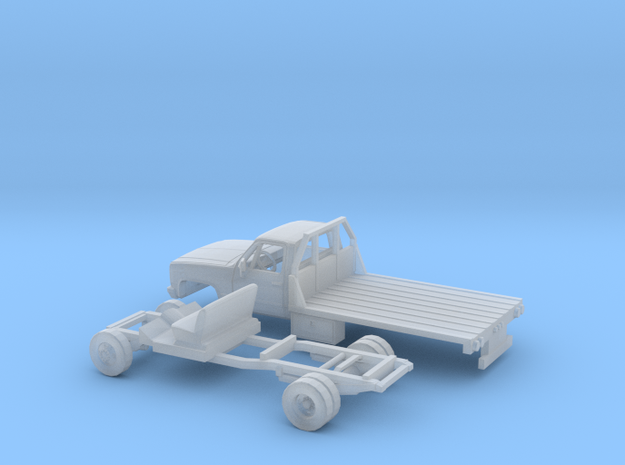 1/87 1980-88 Chevy CK Series Reg Cab Flatbed Kit in Smooth Fine Detail Plastic