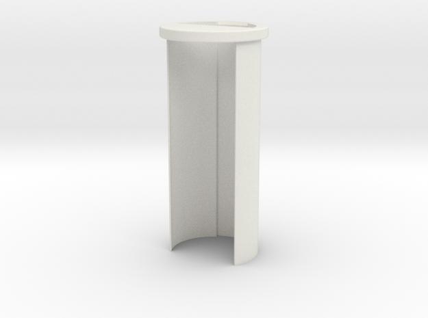 "Custom Request - 1.14""OD 26650 battery holder in White Natural Versatile Plastic"