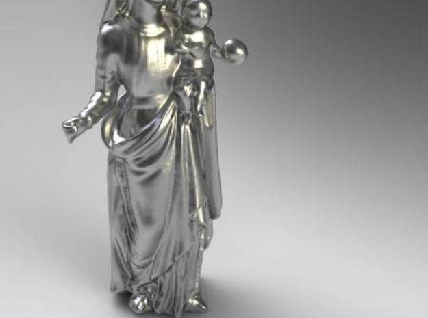 Mary with Jesus 3d printed Render in silver
