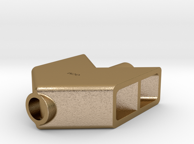 Muzzle Brake Paperweight nº2 in Polished Gold Steel