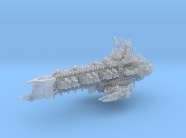 Apocalyptic Battleship in Smooth Fine Detail Plastic
