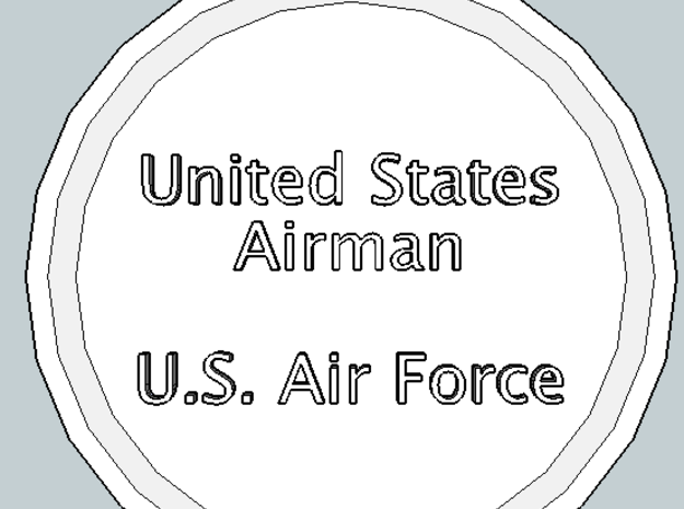 U.S. Airman Pendant in Polished Gold Steel