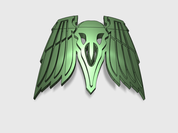 60x Death Ravens : Shoulder Insignia pack in Frosted Ultra Detail