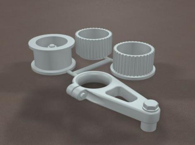 1/16 Scale Generic Blower Pulleys in Frosted Ultra Detail