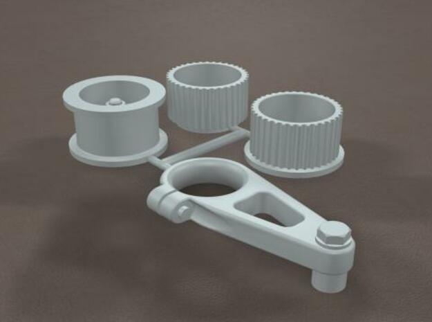 1/16 Scale Generic Blower Pulleys 3d printed