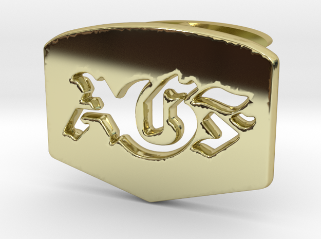 AGF cufflinks in 18k Gold Plated Brass