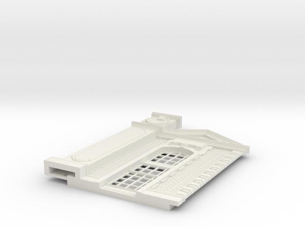HOGG-BVA01d-g - Large modular train station in White Natural Versatile Plastic