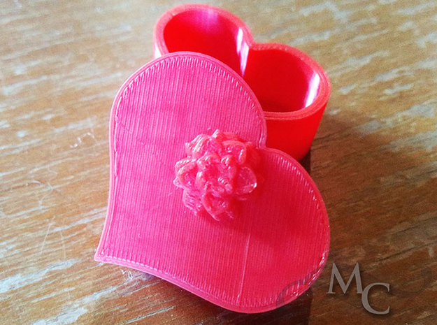 Heart Shaped Box in Red Processed Versatile Plastic