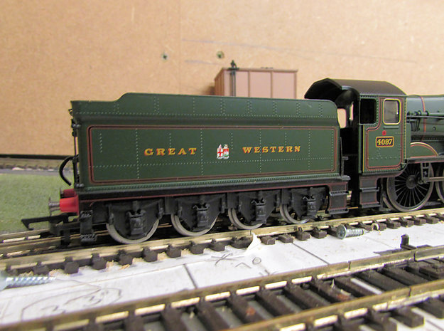 GWR Collett 8 Wheeled Tender Chassis in White Natural Versatile Plastic
