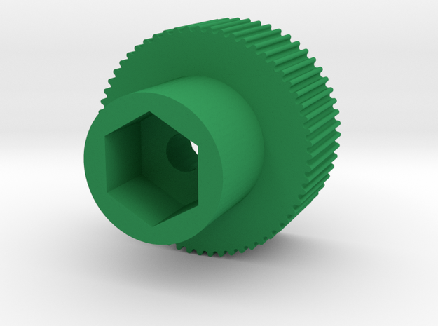 "11/32"" finger driver in Green Processed Versatile Plastic"