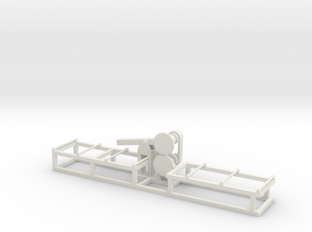 Saw1 - HO 87:1 Scale in White Natural Versatile Plastic