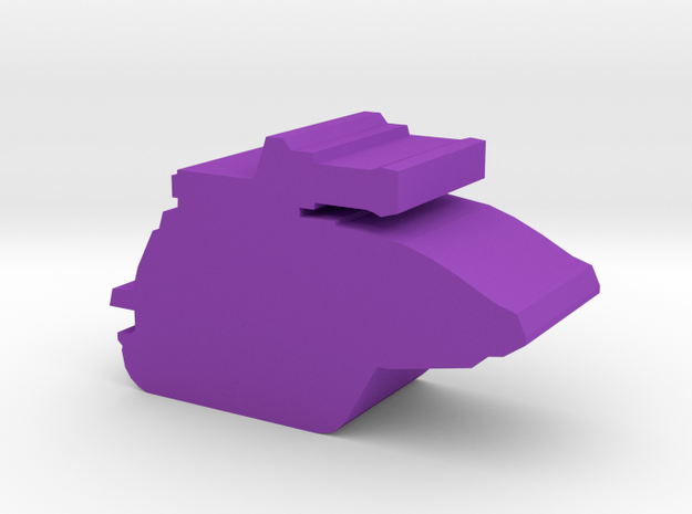 Game Piece, SNAKE tank in Purple Processed Versatile Plastic