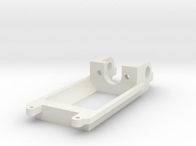 Flat Motor mount / Motorhalter 18D Inliner in White Natural Versatile Plastic