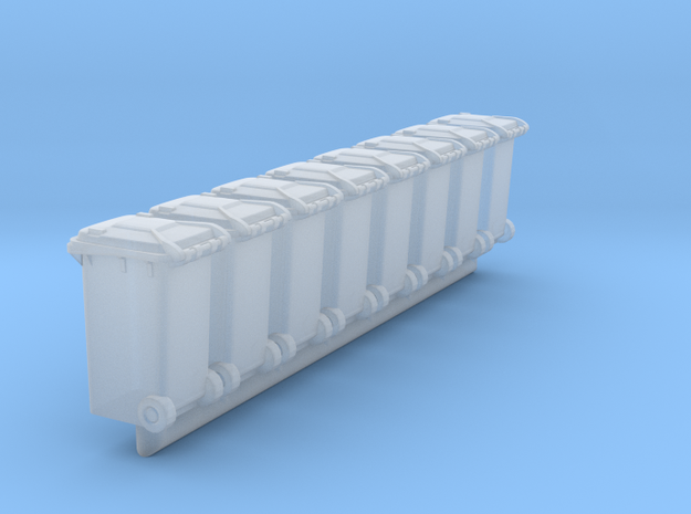 Trash bin Ver03. HO Scale (1:87) in Smooth Fine Detail Plastic