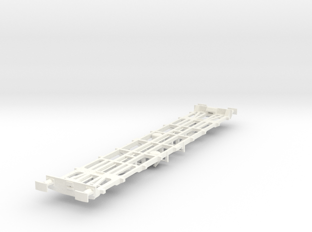 CIE 42ft LY Container Flat Wagon [B-2] square buff in White Strong & Flexible Polished