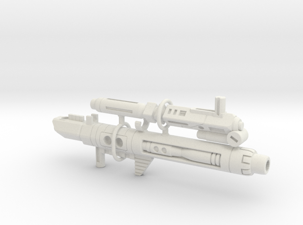 Terror Combiner's Blaster Set in White Strong & Flexible