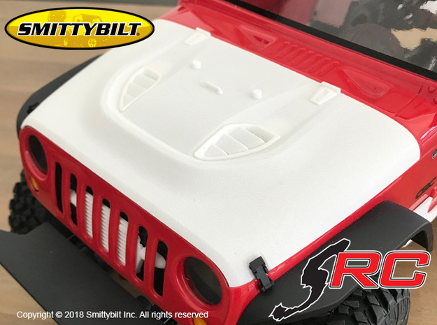 JK17022 Smittybilt Stingray Hood in Black Natural Versatile Plastic