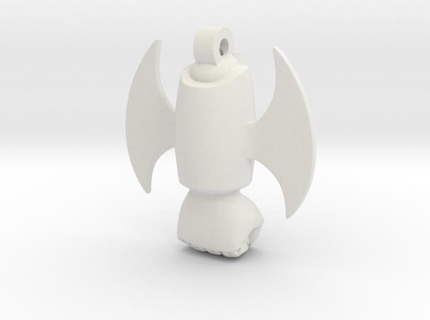 Mazinger Z Rocket Punch - Iron Cutter - Keychain in White Natural Versatile Plastic