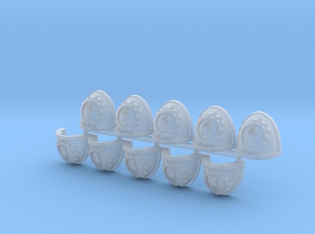 Steel Handed Warriors Shoulder Pads Mk7/8 x10 L #1 in Smooth Fine Detail Plastic