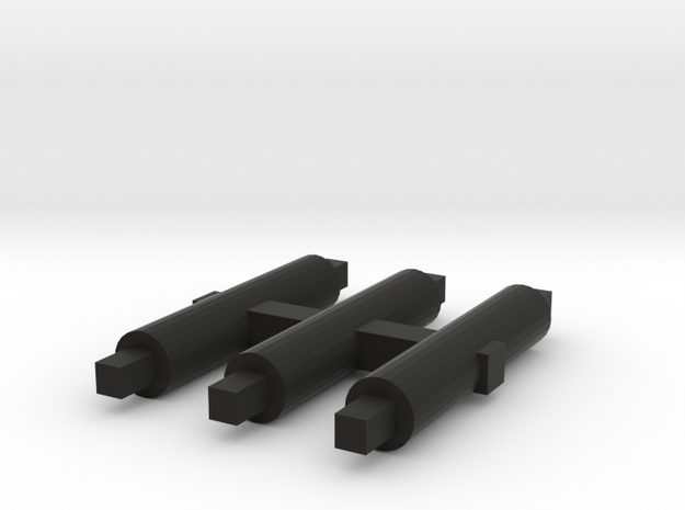 S&DR Derwent - Axles in Black Natural Versatile Plastic