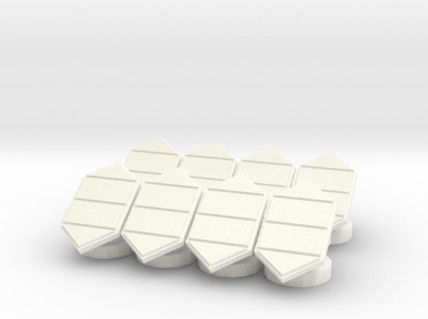 6mm Solar Collectors in White Processed Versatile Plastic