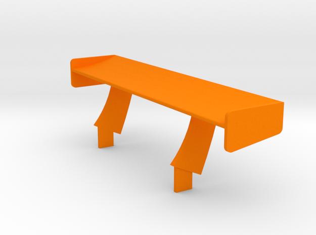 PSNS00201 rear wing for NSR Prsche 997 GT3 in Orange Processed Versatile Plastic