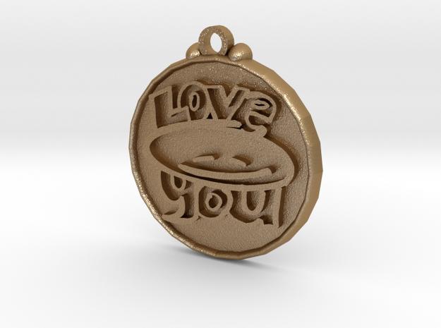 Love You face pendant