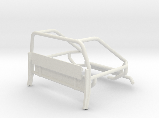 Orlandoo F150 OH35P01 Rear crawler cage V1 in White Natural Versatile Plastic