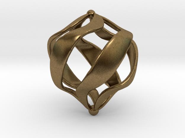 Geranium pendant necklace in Natural Bronze