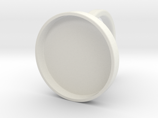 Custom Ring 76 US 9.5 in White Natural Versatile Plastic