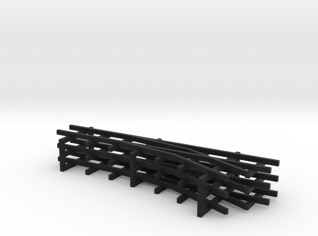 1/144 narrow gauge track set in Black Natural Versatile Plastic