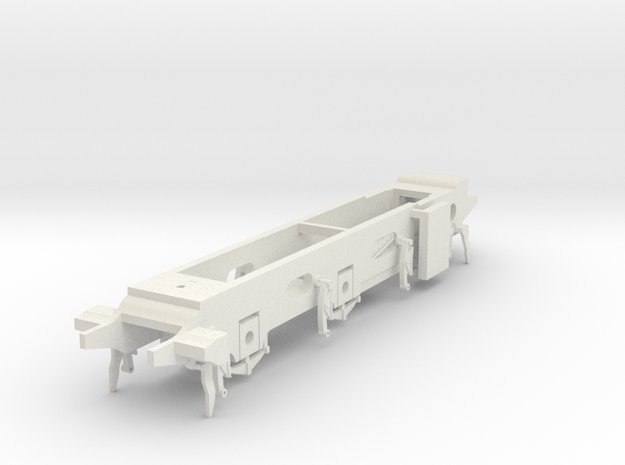 LB&SCR E2 - 10mm - Gauge 1 - 40mm BtoB - Chassis in White Natural Versatile Plastic