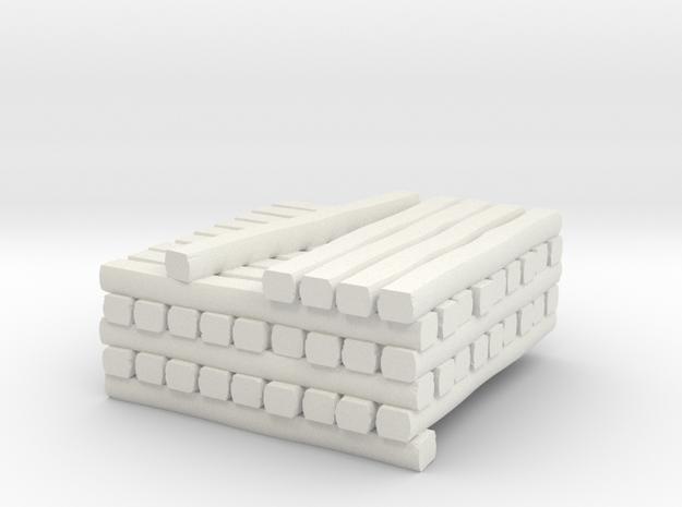 HOn3 Cross Tie Partial Stack in White Natural Versatile Plastic