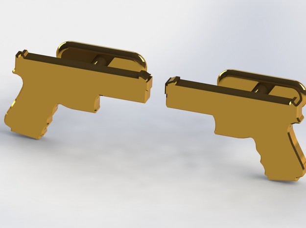 9MM CUFFLINKS in Natural Bronze