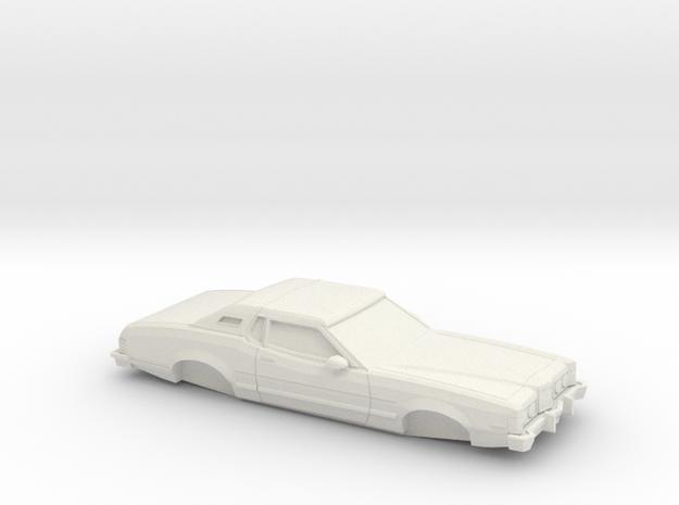 1/32 1974-76 Mercury Cougar in White Natural Versatile Plastic
