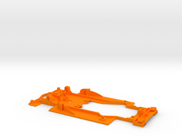 SC-9102h Chasis V12 EVO std guide and RT3 motor mo in Orange Strong & Flexible Polished