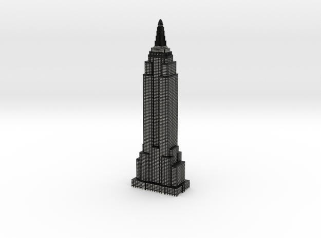 Empire State Building - Black w White Windows in Full Color Sandstone