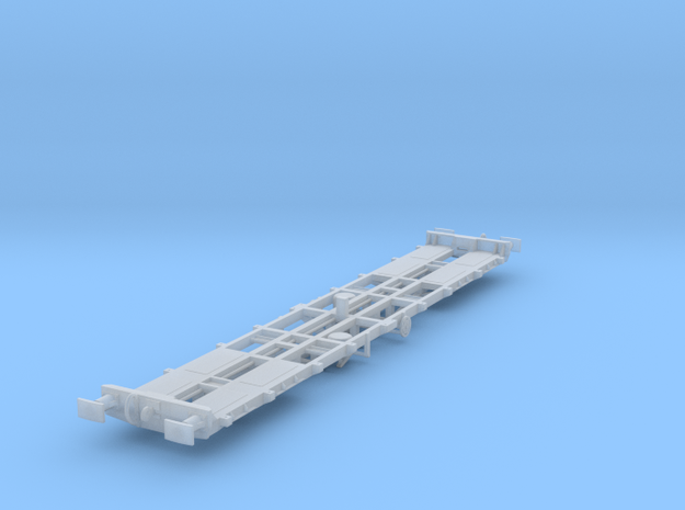 CIE 42ft LY Container Flat Wagon [B-6] square buff in Smooth Fine Detail Plastic
