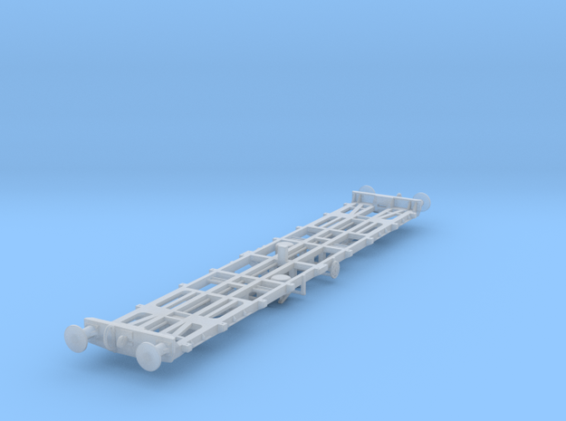 CIE 42ft LY Container Flat Wagon [B-4] round buff in Frosted Ultra Detail