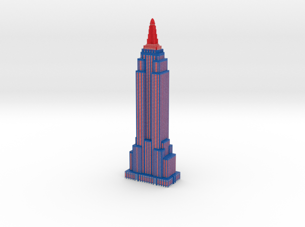 Empire State Building - Patriotic - Color Scheme 2 in Full Color Sandstone