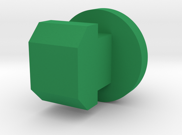 Wipac type Triconsul button green in Green Processed Versatile Plastic